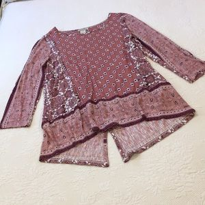 Lucky brand boho blouse size small